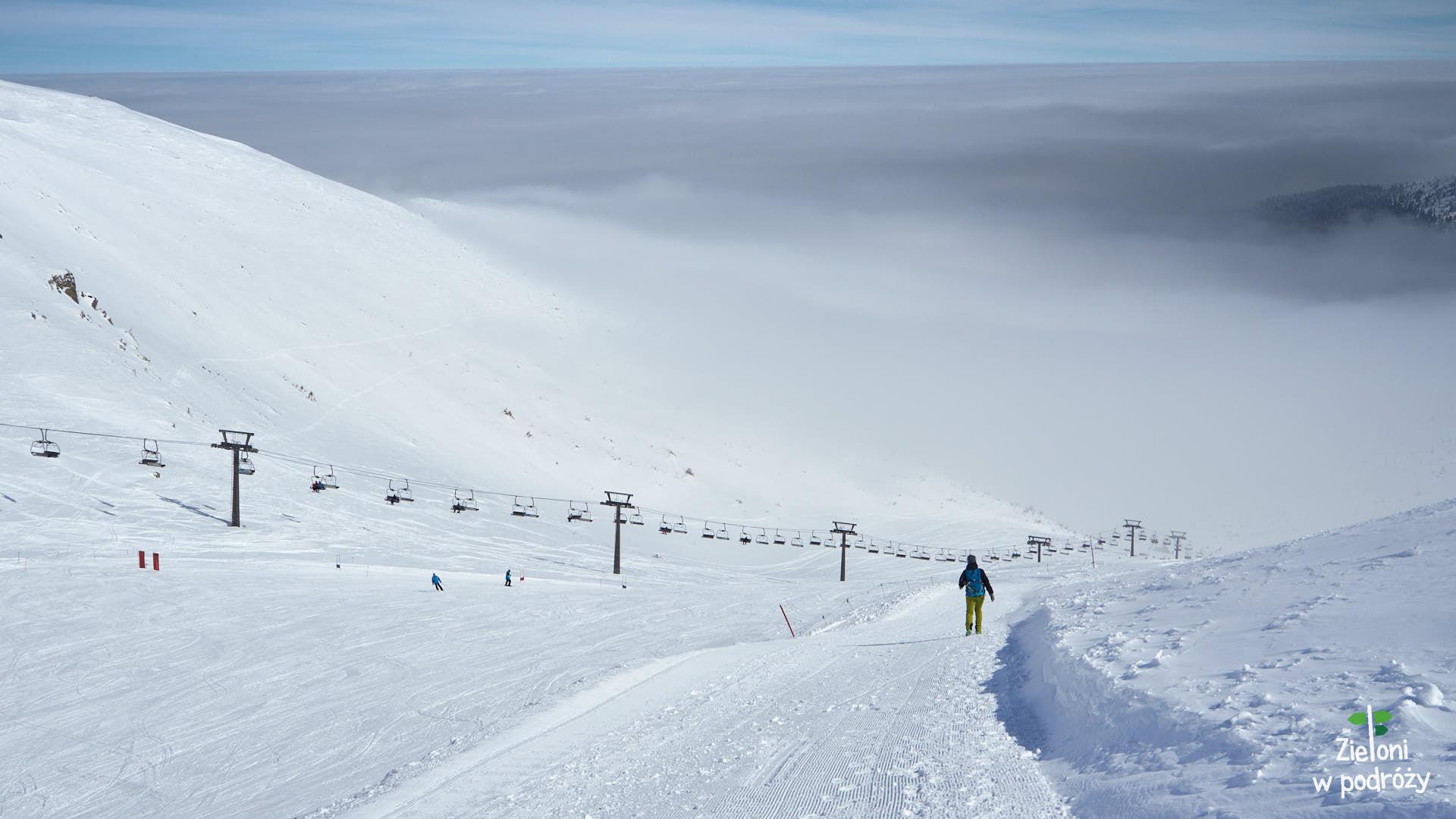 Kasprowy Wierch i Beskid w stylu kolejkowym zimą
