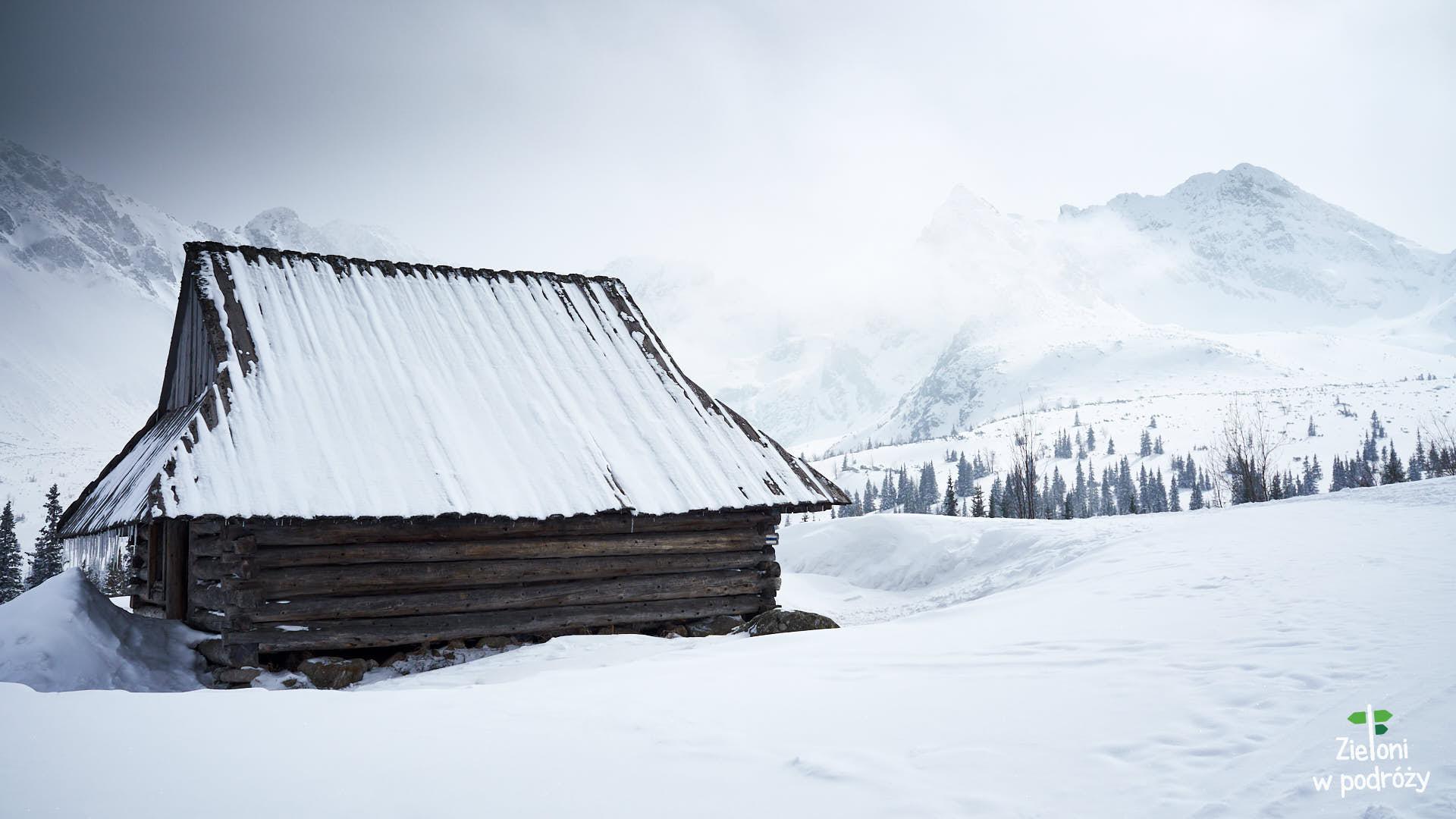 Zimowy klimat w Dolinie Gąsienicowej. Brakuje tylko słońca