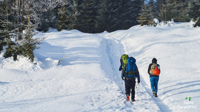 Słońce i prószący śnieg, czyli przepis na ładną wycieczkę