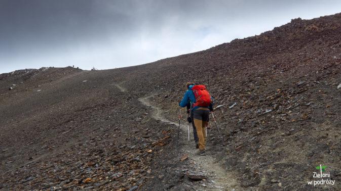 Ostatnie kroki w drodze na przełęcz