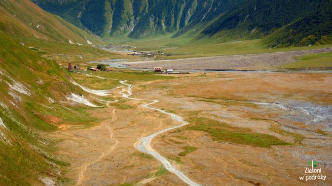 Część Doliny Truso widziana z twierdzy Zakagori