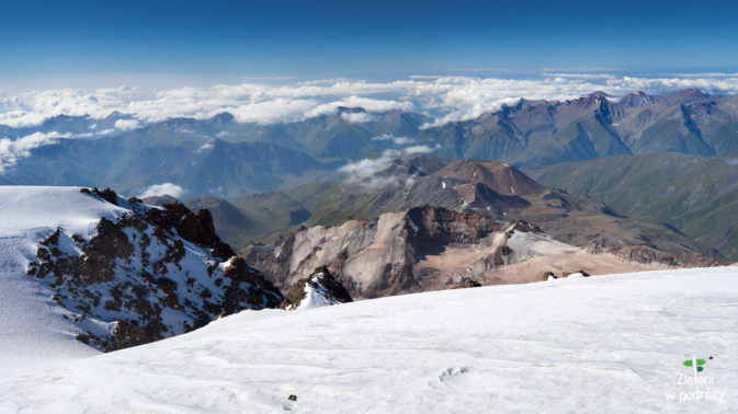 Panorama ze szczytu w kieurnku południowym