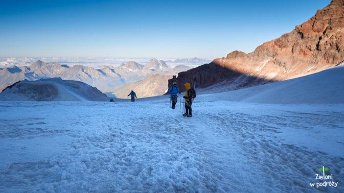Powoli docieramy na plateau, czyli mniej więcej na 4400-4500 m n.p.m.