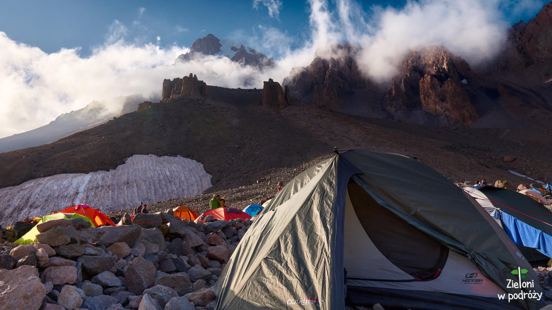 Ten namiot dzielnie mi służył przez kilka dni wyprawy