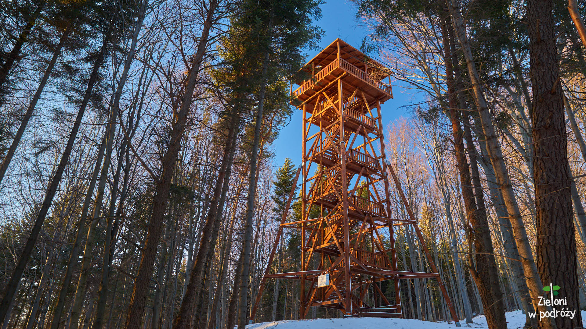 Wieża widokowa pod szczytem Ferdla