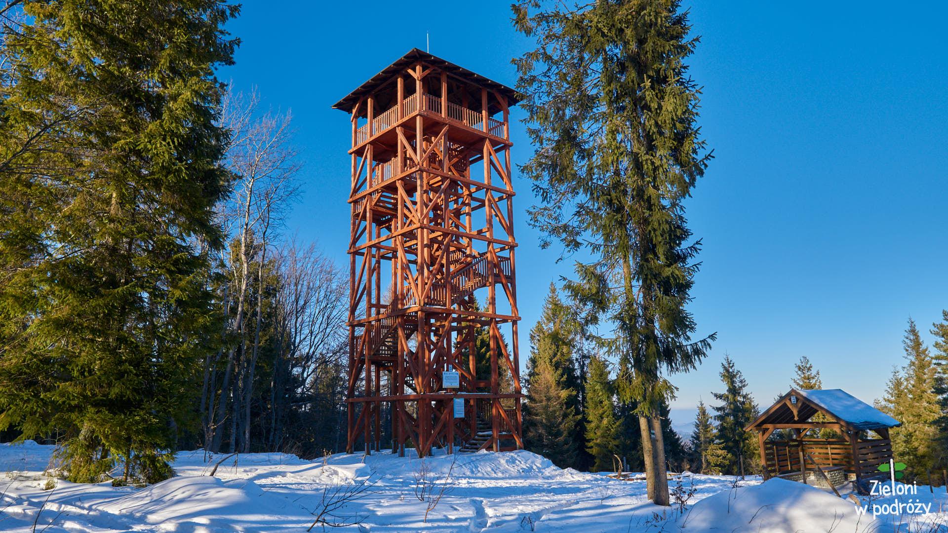 Wieża widokowa na szczycie Eliaszówki