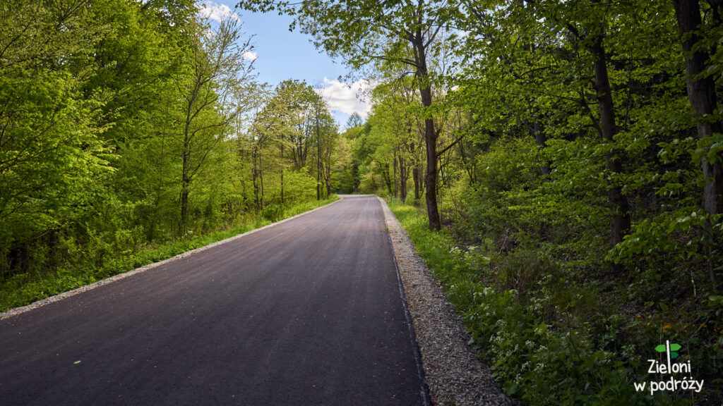 Szlak z Krempnej to początkowo po prostu asfaltowa droga