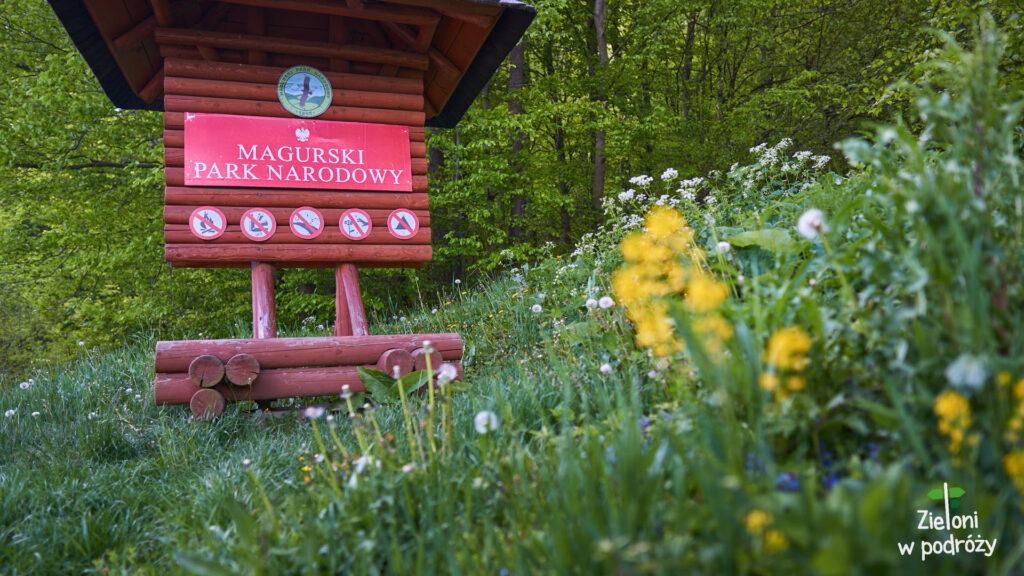 Wchodzę do Magurskiego Parku Narodowego