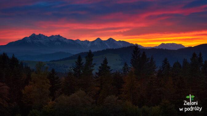Tatry o zachodzie słońca